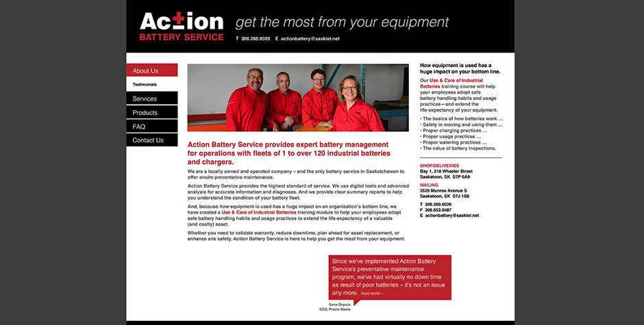 Action Battery Service